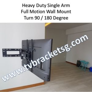 heavy duty single arm full motion tv bracket