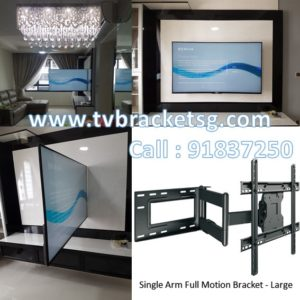 good quality single arm full motion tv bracket supply in Singapore