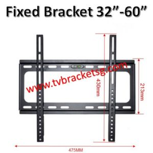 new fixed tv bracket in singapore hold up to 60 inch