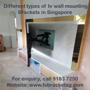 Different Types of TV Wall Mounting Bracket in Singapore