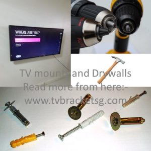 TV mounts and Drywalls in Singapore