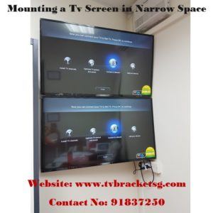 Mounting a Tv Screen by tv bracket singapore