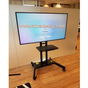 tv bracket mobile floor stand in Singapore