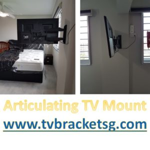The articulating TV mount is also known as the full motion TV bracket.