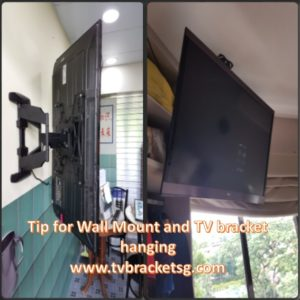 Tip For Wall Mount And TV Bracket Hanging in Singapore