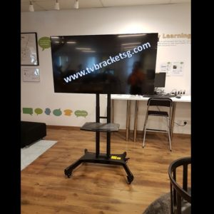 supply tv bracket & tv stand with wheels in singapore