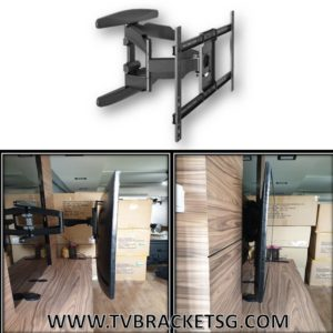 type of tv bracket wall mount double arm full motion swivel large in singapore