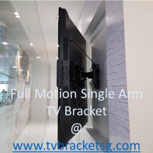 full motion single arm tv wall mount bracket in Singapore_Different Size Range