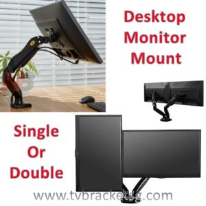 PRODUCTIVITY IN WORKPLACE WITH COMFORT-monitor desktop single or double clam mount