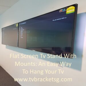 Flat Screen Tv Stand With Mounts An Easy Way To Hang Your Tv